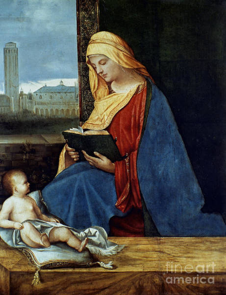 Photograph - Madonna Reading by Granger