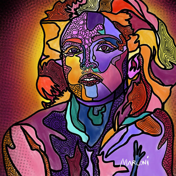 Digital Art - Madonna The Rebel by Marconi Calindas