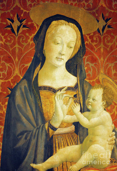Wall Art - Painting - Madonna With Child  by Domenico Veneziano