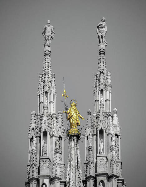 Photograph - Madonnina Statue In Milan, Italy by Alexandre Rotenberg