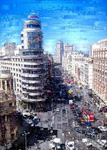 Digital Art - Madrid - La Gran Via by Rafael Salazar