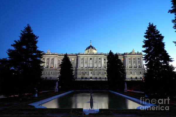 Photograph - Madrid Royal Palace And Sabatini Gardens by James Brunker