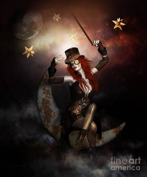 Punk Digital Art - Maestro Steampunk by Shanina Conway