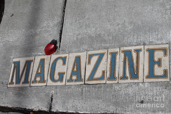 Photograph - Magazine St. Sign II by Julia Rigler