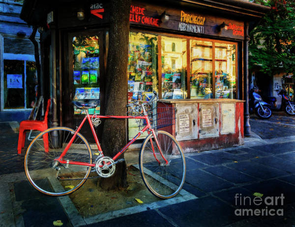 Photograph - Magazine Stand Bicycle by Craig J Satterlee