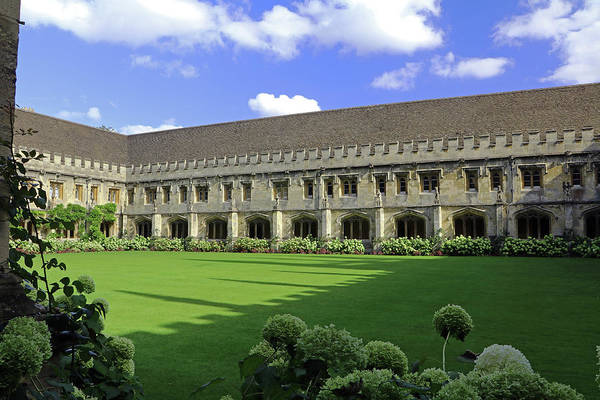 Photograph - Magdalan College Cloisters by Tony Murtagh