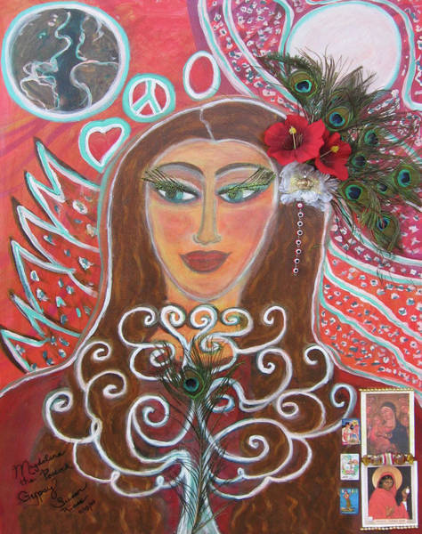 Magdalena The Peacock Gypsy Art Print by Susan Risse