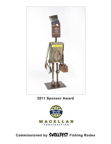Wall Art - Mixed Media - Magellan Construction by Benjamin Bullins