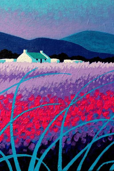 Wall Art - Painting - Magenta Blossoms  by John  Nolan