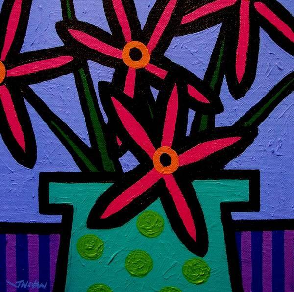 Wall Art - Painting - Magenta Flowers by John  Nolan