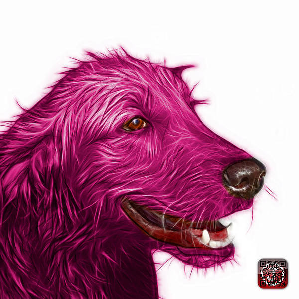 Painting - Magenta Golden Retriever Dog Art- 5421 - Wb by James Ahn