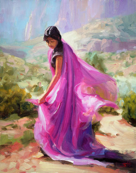 Background Painting - Magenta In Zion by Steve Henderson