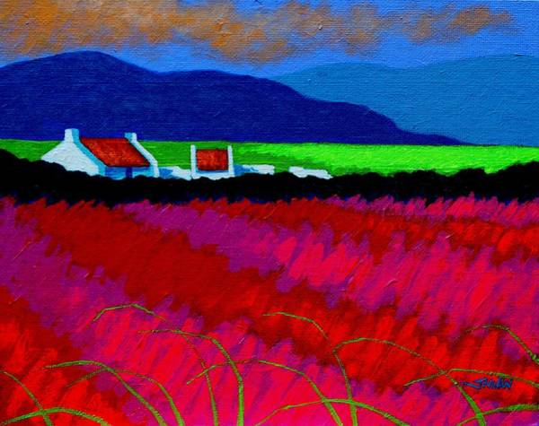 Wall Art - Painting - Magenta Meadow by John  Nolan