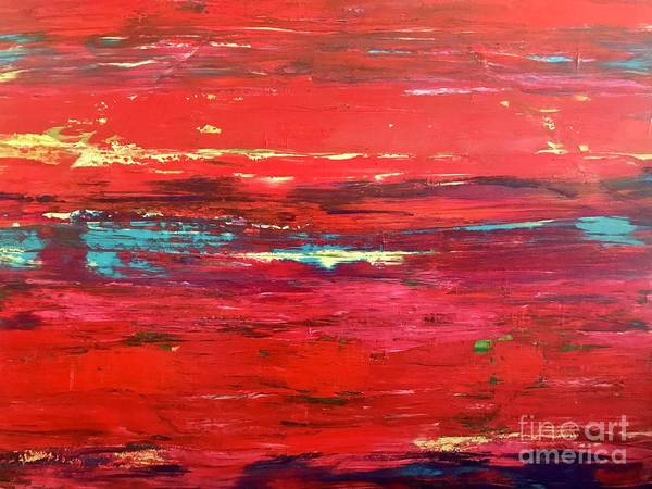 Painting - Magenta Sunset by Sherry Harradence