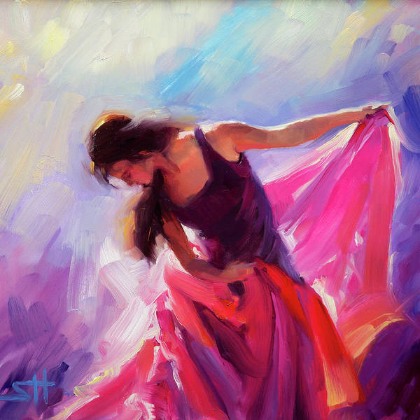 Dancers Wall Art - Painting - Magenta by Steve Henderson