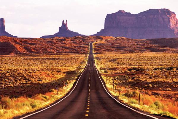 Photograph - Magestic And Lonesome Road To Monument Valley by Kim Lessel