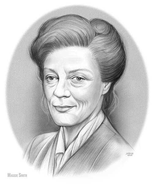 Actress Drawing - Maggie Smith by Greg Joens