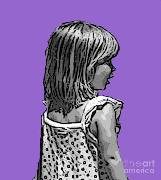 Wall Art - Digital Art - Maggies Purple Portrait by Anthony Forster