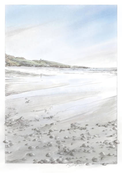 Donegal Digital Art - Maghery Strand by Kevin Gallagher