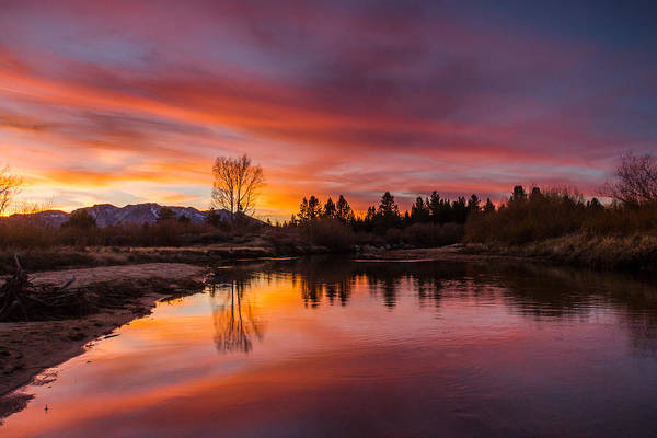 Magic Blue Hour At Lake Tahoe Art Print