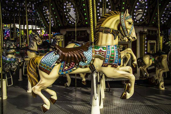 Carousel Horse Photograph - Magic Carrousel Horse Ride by Garry Gay