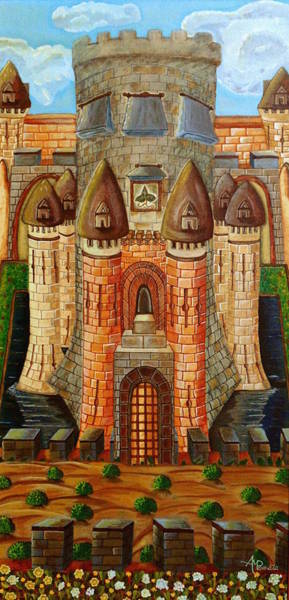 Painting - Magic Castle by Angeles M Pomata