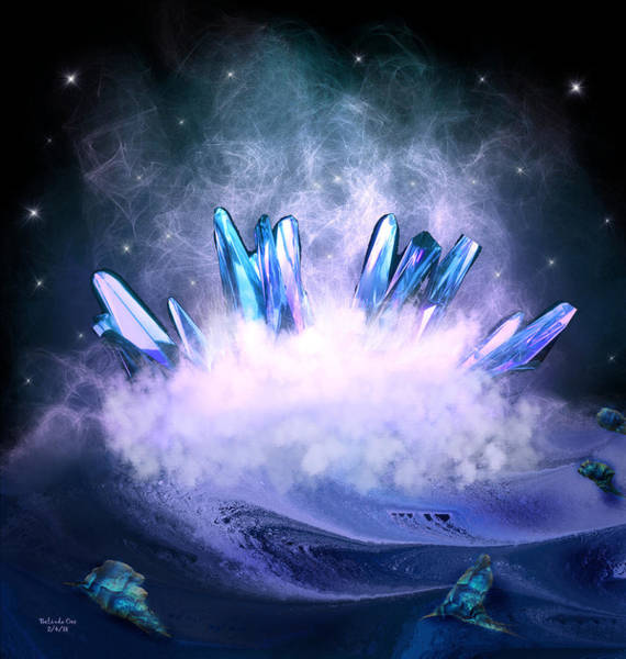 Digital Art - Magic Crystals by Artful Oasis