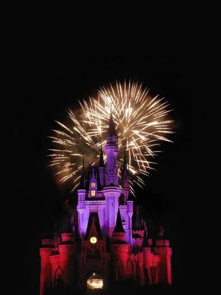 Disney World Photograph - Magic Fireworks by Andrew Soundarajan