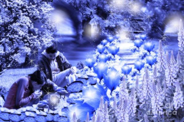 Digital Art - Magic Flower Path by Cathy Beharriell