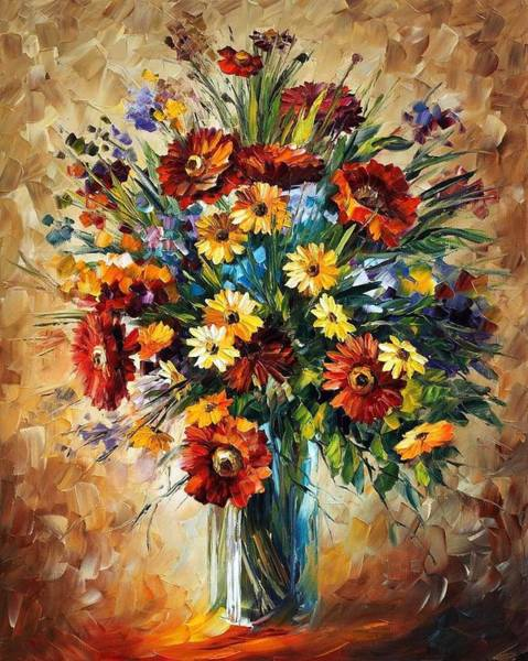 Leonid Wall Art - Painting - Magic Flowers by Leonid Afremov
