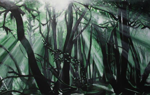 La Gomera Wall Art - Painting - Magic Forest by Victor Landeta