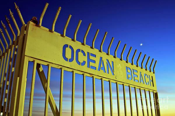 Photograph - Magic Hour Moon Over Ocean Beach by Sam Antonio Photography