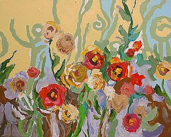 Fauve Painting - Magic In The Garden by Linda Monfort