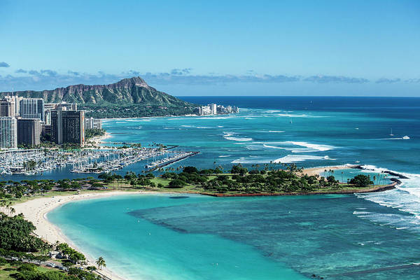 Wall Art - Photograph - Magic Island To Diamond Head by Sean Davey