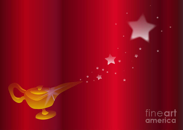 Assistance Digital Art - Magic Lamp Background by Bigalbaloo Stock