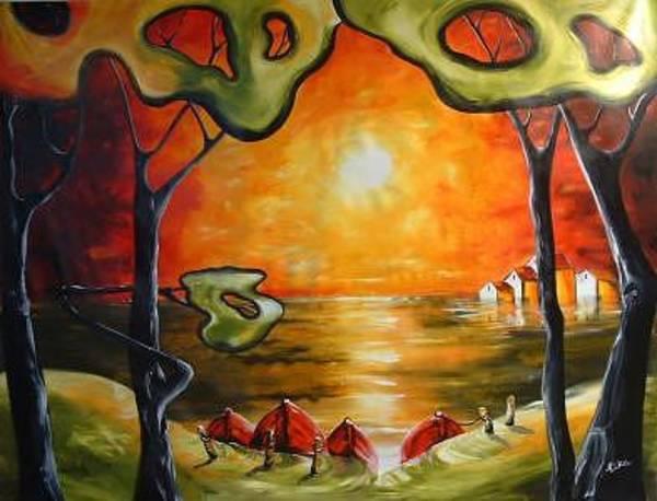 Wall Art - Painting - Magic Landscape by Elizabeth Kawala