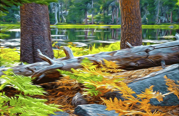 Mixed Media - Magic Light Lake by Eastern Sierra Gallery