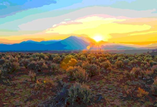 Painting - Magic Over Taos by Charles Muhle