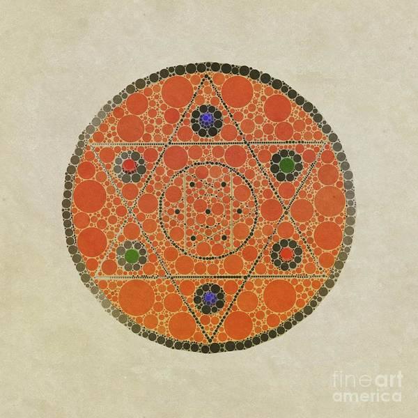 Jewish Digital Art - Magic Symbol By Mb by Mary Bassett