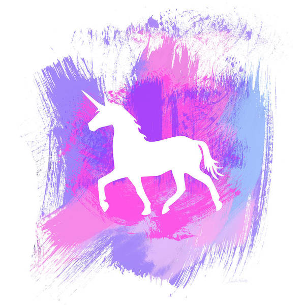 Girl Mixed Media - Magic Unicorn 1- Art By Linda Woods by Linda Woods