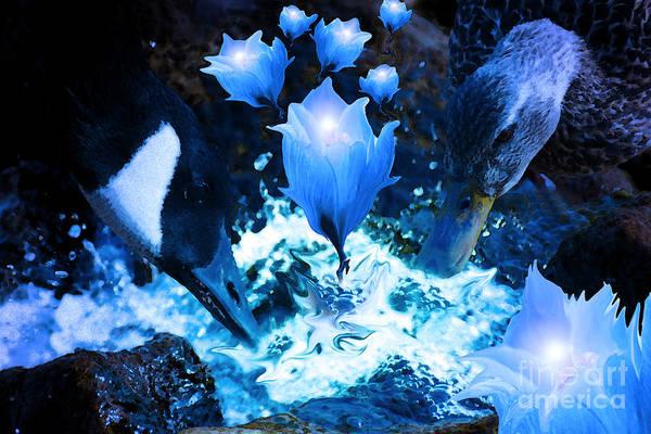 Digital Art - Magic Water Flowers  by Cathy Beharriell