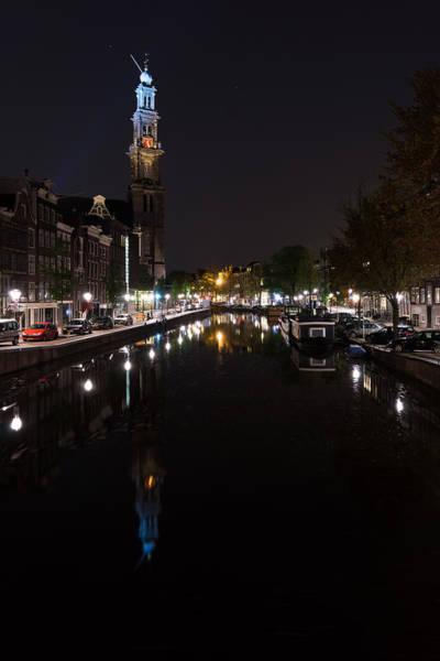 Photograph - Magical Amsterdam Night - Blue Crown Skyline by Georgia Mizuleva