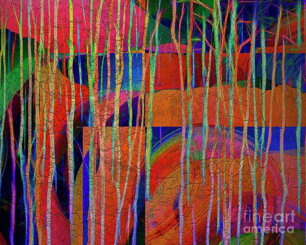 Digital Art - Magical Aspens by Edmund Nagele