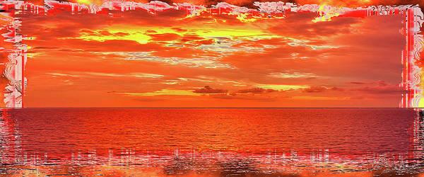 Photograph - Magical Caribbean Sunset Mug Shot by John M Bailey