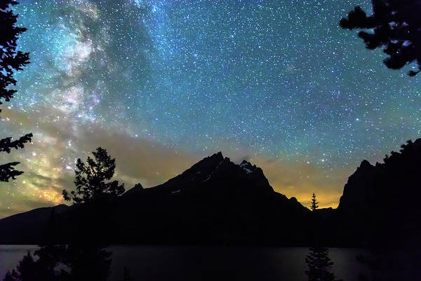 Photograph - Magical Colorful Grand Teton Night by James BO Insogna