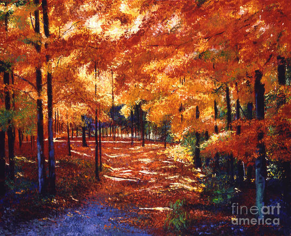 New Leaf Painting - Magical Forest by David Lloyd Glover