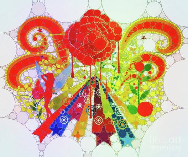 Sixties Digital Art - Magical Mystery Tour by Mary Bassett