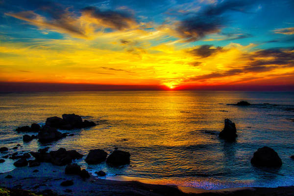 Sun Set Photograph - Magical Pacific Sunset by Garry Gay