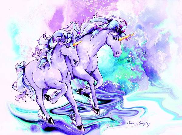 Painting - Magical Pair by Sherry Shipley