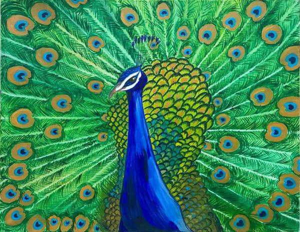 Russian Impressionism Wall Art - Painting - Magical Pavo by Alina Morozova